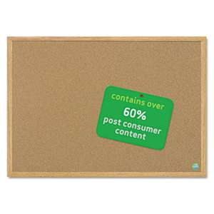 BI-SILQUE VISUAL COMMUNICATION PRODUCTS INC Earth Cork Board, 36 x 48, Wood Frame