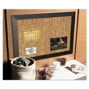 BI-SILQUE VISUAL COMMUNICATION PRODUCTS INC Natural Cork Bulletin Board, 36x24, Cork/Black