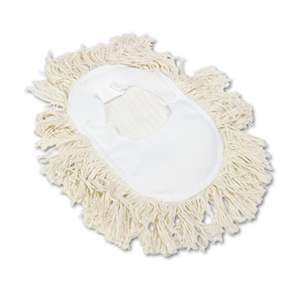 BOARDWALK Wedge Dust Mop Head, Cotton, 17 1/2l x 13 1/2w, White