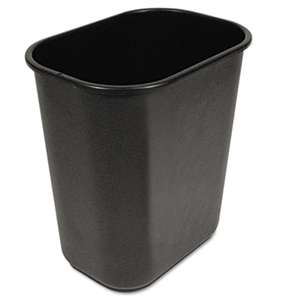 BOARDWALK Soft-Sided Wastebasket, 28qt, Black