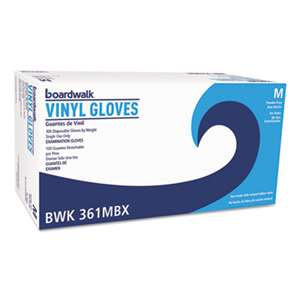 BOARDWALK Exam Vinyl Gloves, Clear, Medium, 3 3/5 mil, 1000/Carton