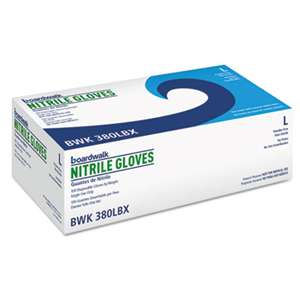 BOARDWALK Disposable General-Purpose Nitrile Gloves, Large, Blue, 100/Box