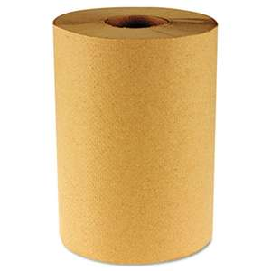 BOARDWALK Hardwound Paper Towels, Nonperforated 1-Ply Natural, 800ft, 6 Rolls/Carton