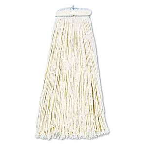 BOARDWALK Cut-End Lie-Flat Wet Mop Head, Cotton, 16oz, White