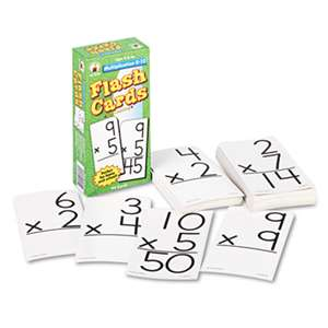 CARSON-DELLOSA PUBLISHING Flash Cards, Multiplication Facts 0-12, 3w x 6h, 94/Pack