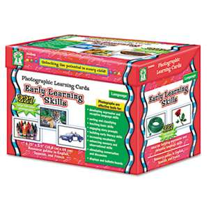 CARSON-DELLOSA PUBLISHING Photographic Learning Cards Boxed Set, Early Learning Skills, Grades K-12