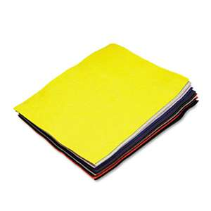 THE CHENILLE KRAFT COMPANY Felt Sheet Pack, Rectangular, 9 x 12, Assorted Colors, 12/Pack