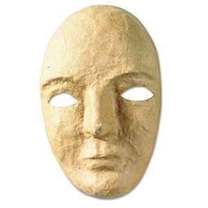 THE CHENILLE KRAFT COMPANY Paper Mache Mask Kit, 8 x 5 1/2""