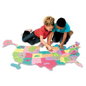 THE CHENILLE KRAFT COMPANY Wonderfoam Giant U.S.A Puzzle Map, 73 Pieces