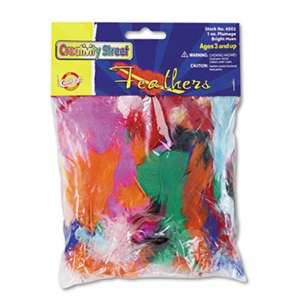 THE CHENILLE KRAFT COMPANY Bright Hues Feather Assortment, Bright Colors, 1 oz Pack