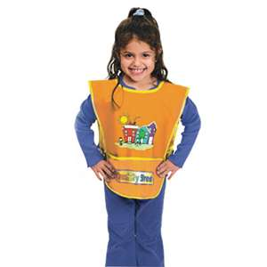THE CHENILLE KRAFT COMPANY Kraft Artist Smock, Fits Kids Ages 3-8, Vinyl, One Size Fits All, Bright Colors