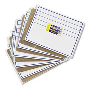 THE CHENILLE KRAFT COMPANY Student Dry-Erase Boards, 12 x 9, Blue/White, 10/Set