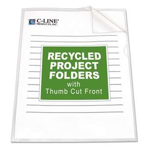 C-LINE PRODUCTS, INC Project Folders, Jacket, Letter, Poly, Clear, 25/Box