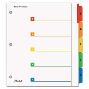 CARDINAL BRANDS INC. OneStep Plus Index System, 5-Tab, Multi-Color