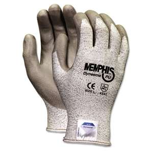 MCR SAFETY Memphis Dyneema Polyurethane Gloves, X-Large, White/Gray, Pair
