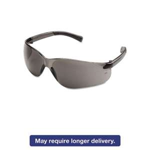 MCR SAFETY BearKat Safety Glasses, Wraparound, Gray Lens