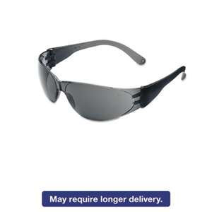 MCR SAFETY Checklite Scratch-Resistant Safety Glasses, Gray Lens