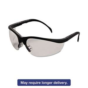MCR SAFETY Klondike Safety Glasses, Matte Black Frame, Clear Lens