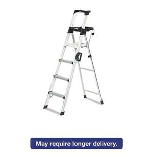 Cosco 2061AABLD Six-Foot Lightweight Aluminum Folding Step Ladder w/Leg Lock & Handle, 300lb