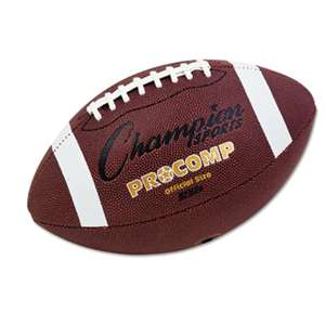 "CHAMPION SPORT Pro Composite Football, Official Size, 22"", Brown"