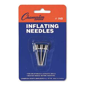 CHAMPION SPORT Nickel-Plated Inflating Needles for Electric Inflating Pump, 3/Pack
