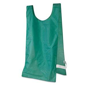 CHAMPION SPORT Heavyweight Pinnies, Nylon, One Size, Green, 12/Box