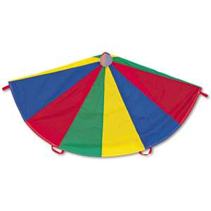 CHAMPION SPORT Nylon Multicolor Parachute, 24-ft. diameter, 20 Handles