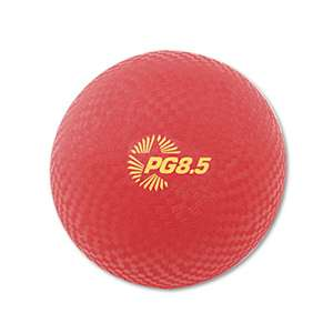"CHAMPION SPORT Playground Ball, 8-1/2"" Diameter, Red"