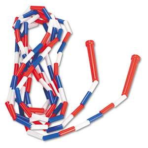 CHAMPION SPORT Segmented Plastic Jump Rope, 16ft, Red/Blue/White