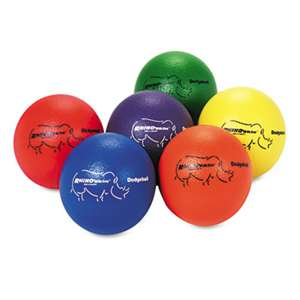 CHAMPION SPORT Dodge Ball Set, Rhino Skin, Assorted Colors, 6/Set