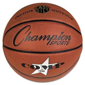 "CHAMPION SPORT Composite Basketball, Official Intermediate, 29"", Brown"