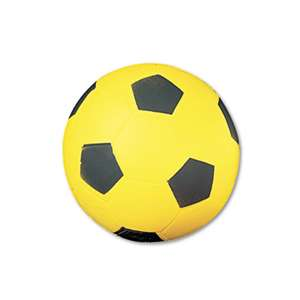 CHAMPION SPORT Coated Foam Sport Ball, For Soccer, Playground Size, Yellow
