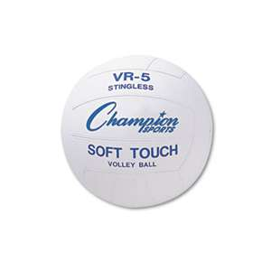 CHAMPION SPORT Rubber Sports Ball, For Volleyball, Official Size, White