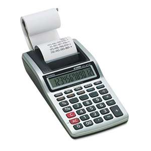 Casio HR8TM HR-8TM Handheld Portable Printing Calculator, Black Print, 1.6 Lines/Sec