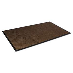 CROWN MATS & MATTING Super-Soaker Wiper Mat w/Gripper Bottom, Polypropylene, 34 x 58, Dark Brown
