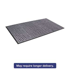 CROWN MATS & MATTING Tire-Track Scraper Mat, Needlepunch Polypropylene/Vinyl,36 x 60,Gray