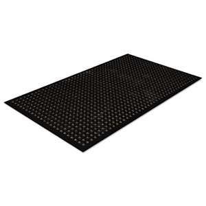 CROWN MATS & MATTING Safewalk-Light Drainage Safety Mat, Rubber, 36 x 60, Black