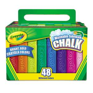 BINNEY & SMITH / CRAYOLA Washable Sidewalk Chalk, 48 Assorted Bright Colors, 48 Sticks/Set