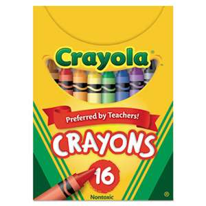 BINNEY & SMITH / CRAYOLA Classic Color Crayons, Tuck Box, 16 Colors