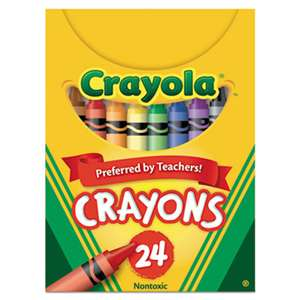 BINNEY & SMITH / CRAYOLA Classic Color Crayons, Tuck Box, 24 Colors