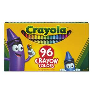 BINNEY & SMITH / CRAYOLA Classic Color Crayons in Flip-Top Pack with Sharpener, 96 Colors