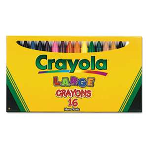 BINNEY & SMITH / CRAYOLA Large Crayons, 16 Colors/Box