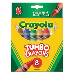 BINNEY & SMITH / CRAYOLA So Big Crayons, Large Size, 5 x 9/16, 8 Assorted Color Box