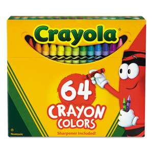 BINNEY & SMITH / CRAYOLA Classic Color Crayons in Flip-Top Pack with Sharpener, 64 Colors