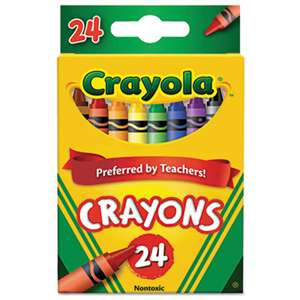 BINNEY & SMITH / CRAYOLA Classic Color Crayons, Peggable Retail Pack, 24 Colors
