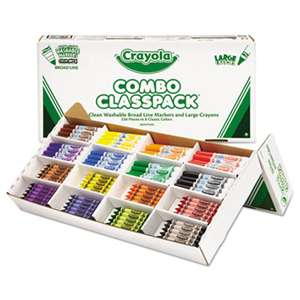 BINNEY & SMITH / CRAYOLA Classpack Crayons w/Markers, 8 Colors, 128 Each Crayons/Markers, 256/Box