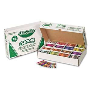 BINNEY & SMITH / CRAYOLA Classpack Regular Crayons, 16 Colors, 800/BX
