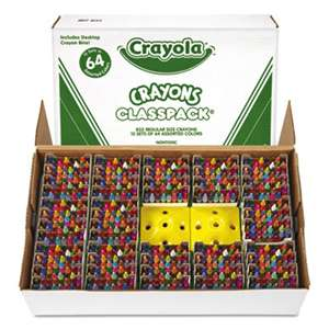 BINNEY & SMITH / CRAYOLA Classpack Regular Crayons, Assorted, 13 Caddies, 832/Box