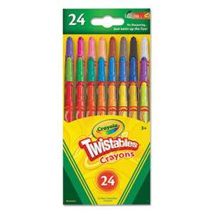 BINNEY & SMITH / CRAYOLA Twistables Mini Crayons, 24 Colors/Pack