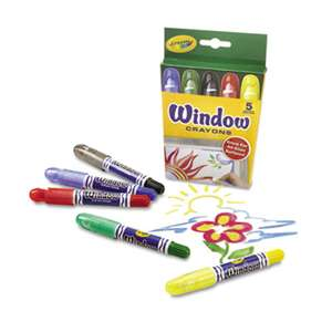 BINNEY & SMITH / CRAYOLA Washable Window Crayons, 5/Set